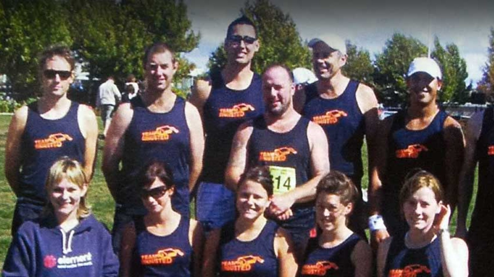 Truckstops New Zealand team members at an event in 2005