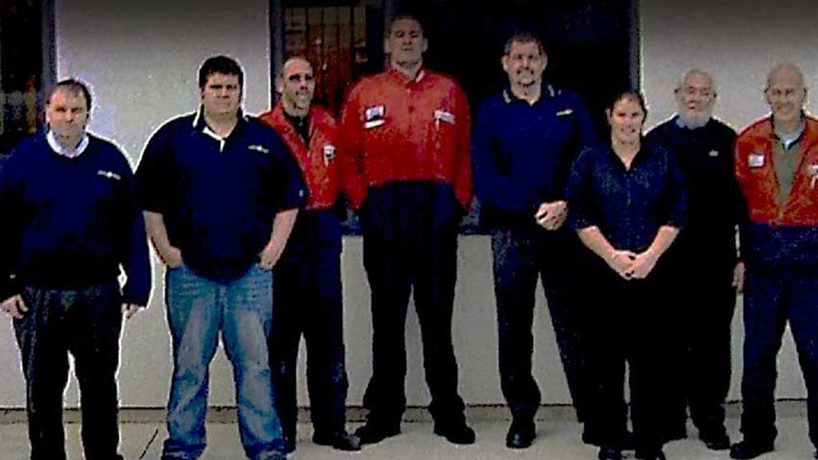 Truckstops New Zealand technicians posed for a picture in 2007