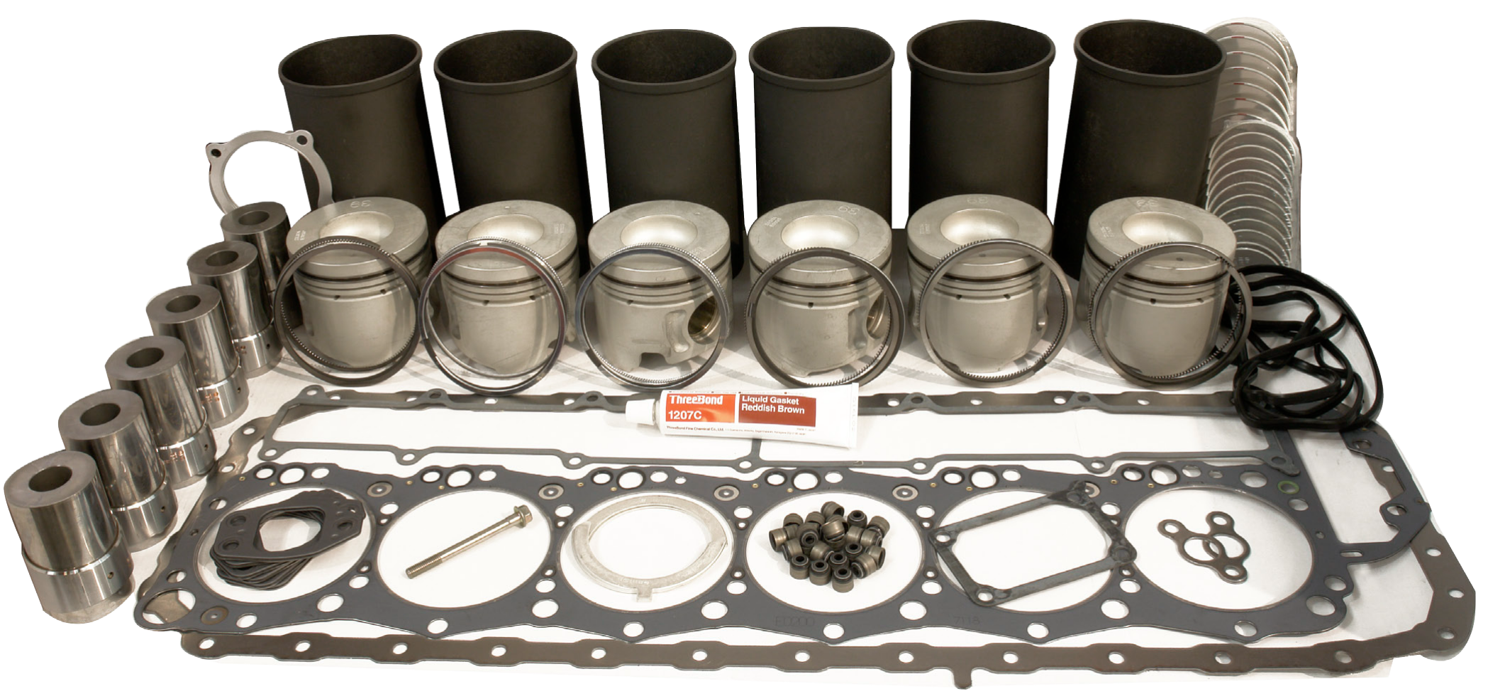 Full range of genuine Hino in-frame engine kits designed, calibrated and engineered specifically for the Hino truck.